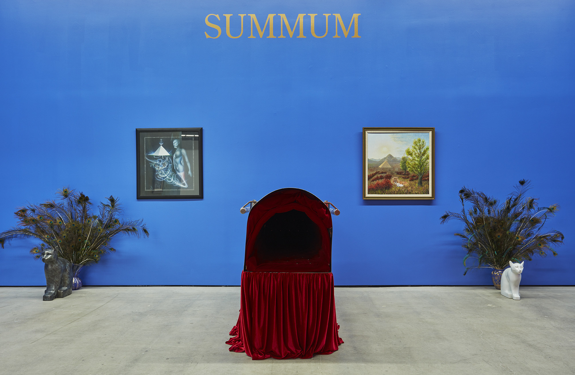An installation at Nicodim shows objects created and employed by members of the religious group Summum, which draws from ancient Egyptian religion.