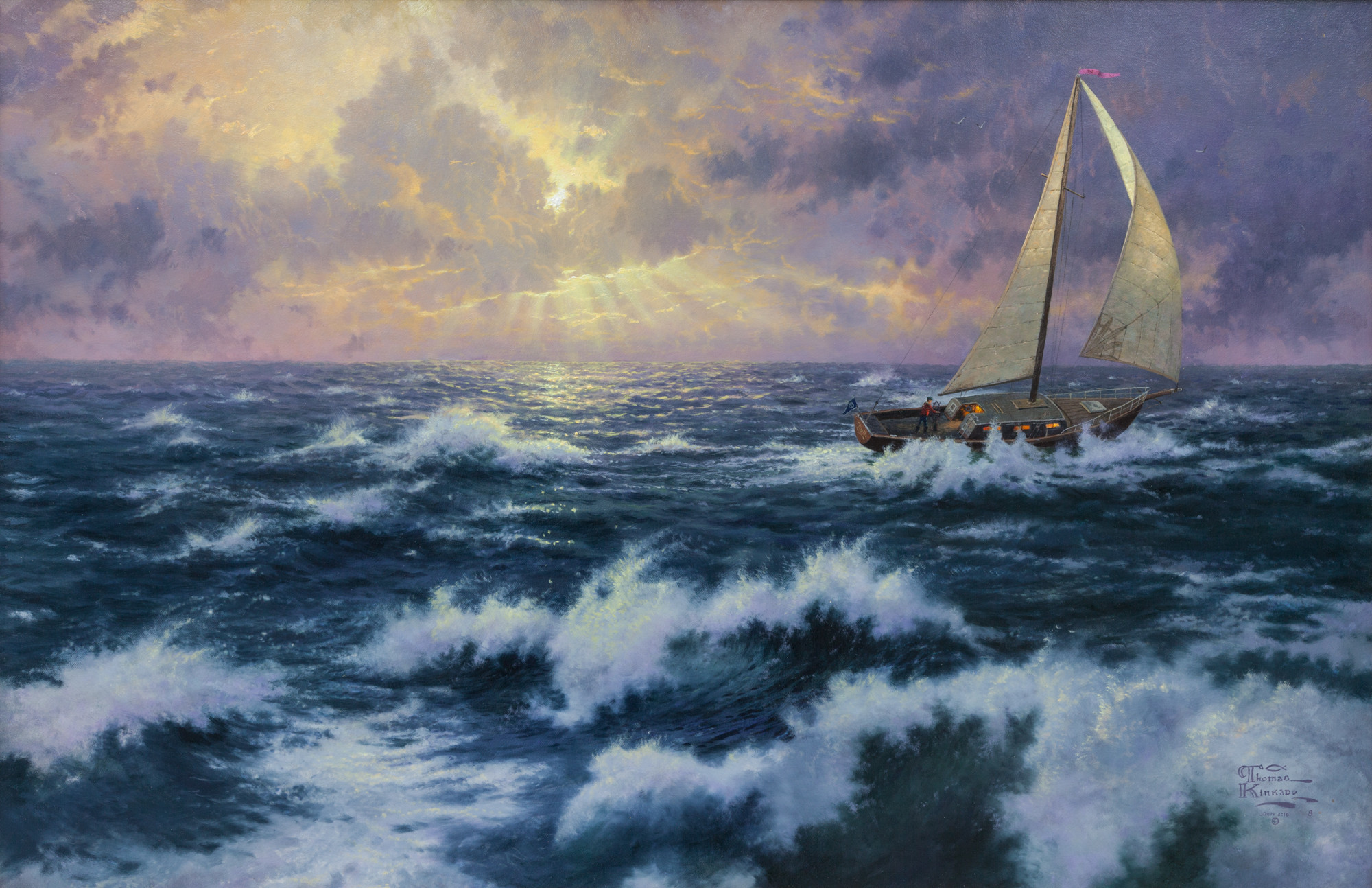 """Perseverance,"" by Thomas Kinkade, on view at Nicodim Gallery."