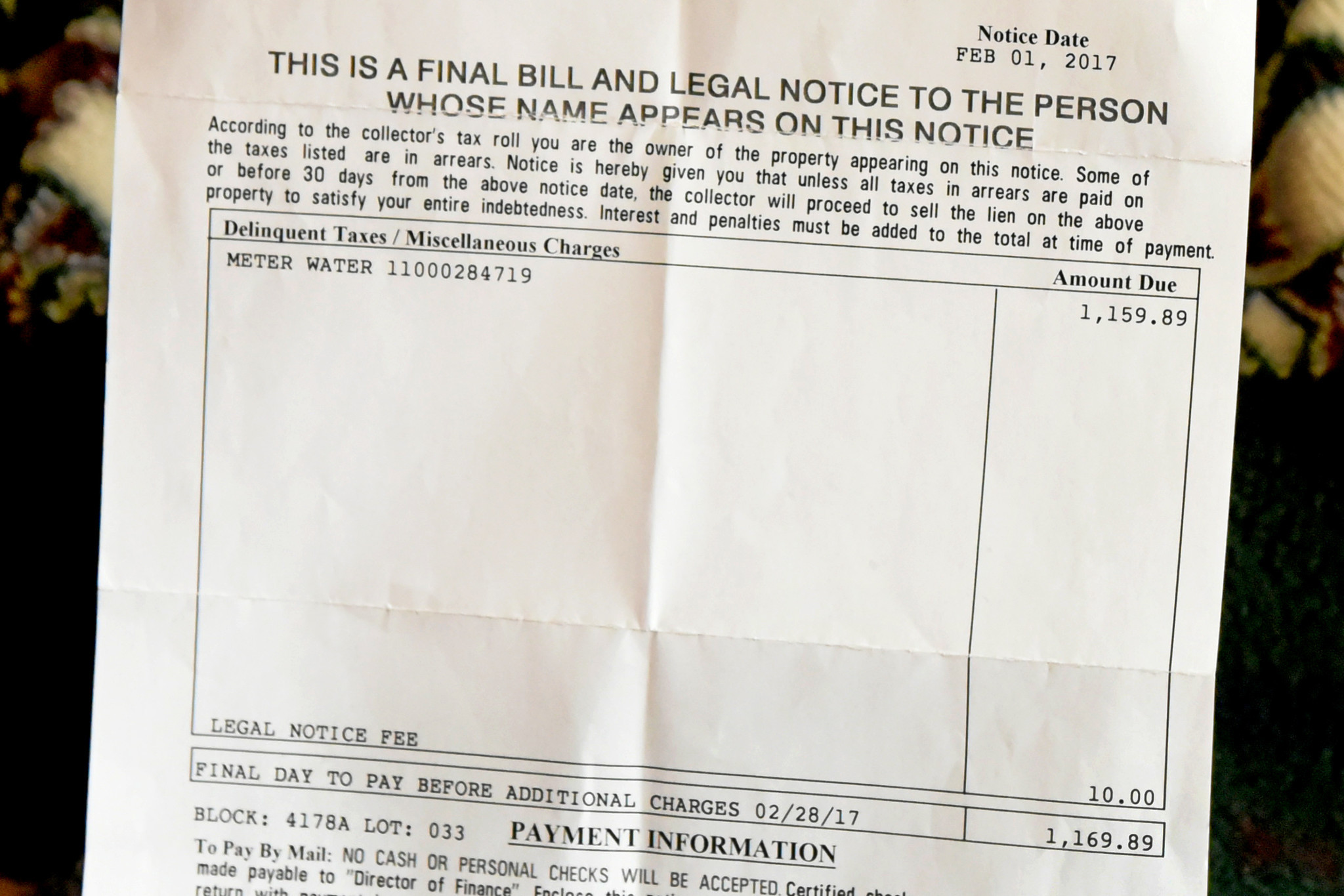 Unpaid Water Bills Trigger Tax Sales For Baltimore Homeowners