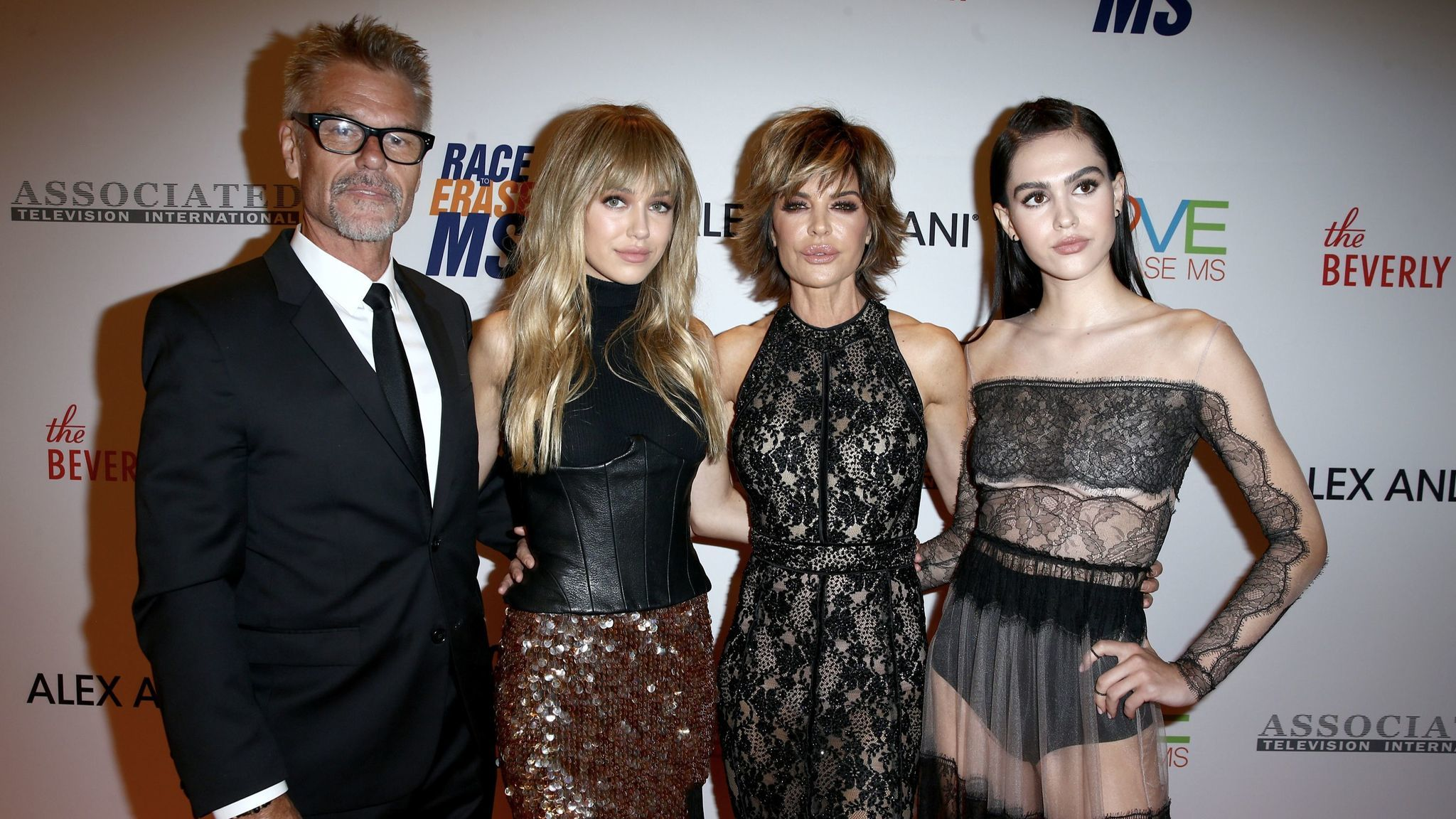 From left, Harry Hamlin, Delilah Belle Hamlin, Lisa Rinna and Amelia Gray Hamlin.