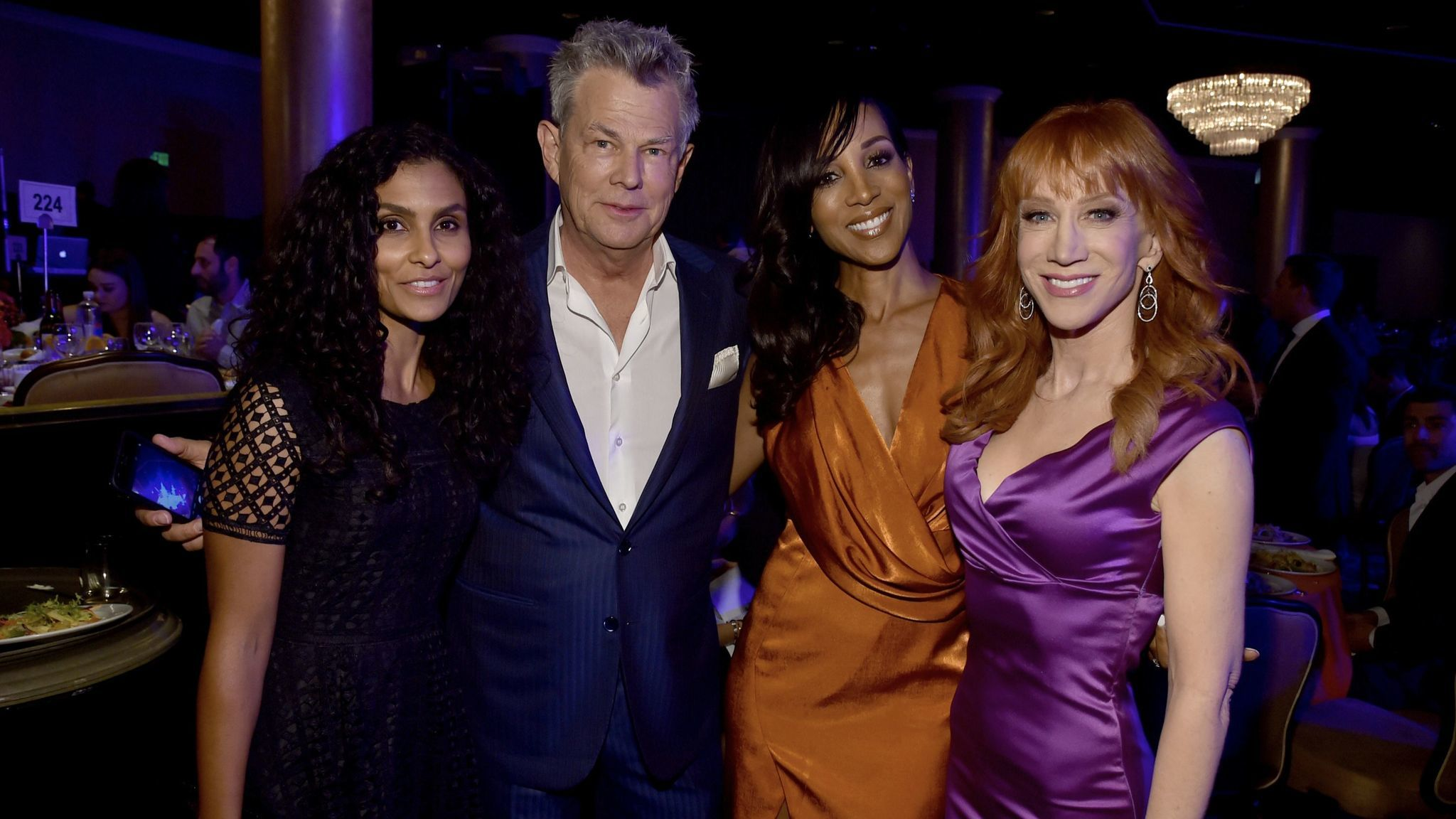 From left, Manuela Testolini, David Foster, Shaun Robinson and Kathy Griffin.