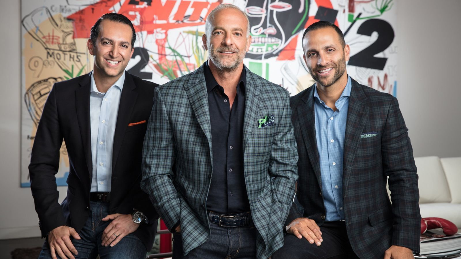 From left, Fertitta Capital's Sam Bakhshandehpour, managing director; Lorenzo Fertitta, chairman and co-founder; and Nakisa Bidarian, chief executive and co-founder.