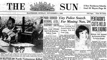 Nov. 9, 1969 Sun: 'City Police Search For Missing Nun, 26'