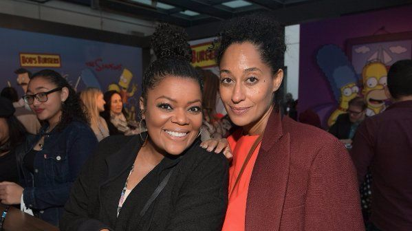 Yvette Nicole Brown, left, and Tracee Ellis Ross attend the City Year Los Angeles Spring Break event.