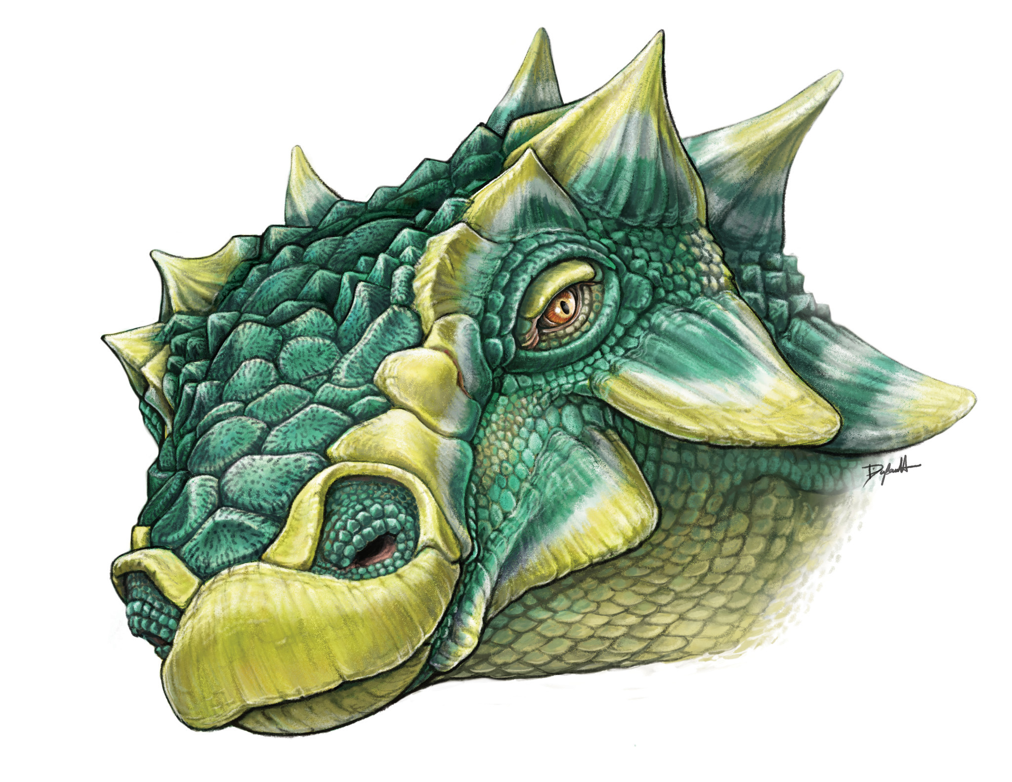 An artist's depiction of Zuul crurivastator.