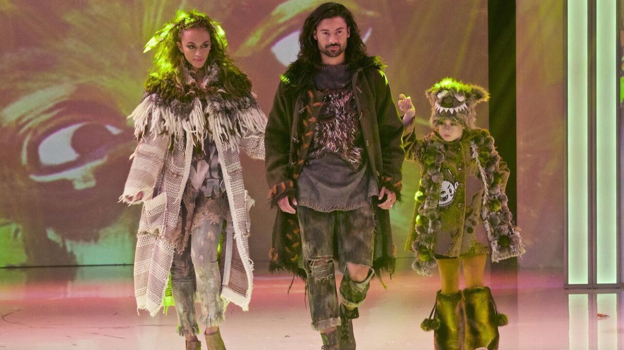 On the runway are werewolf looks from mentor project with Marisol Gerona-Bradford for Universal Monsters.