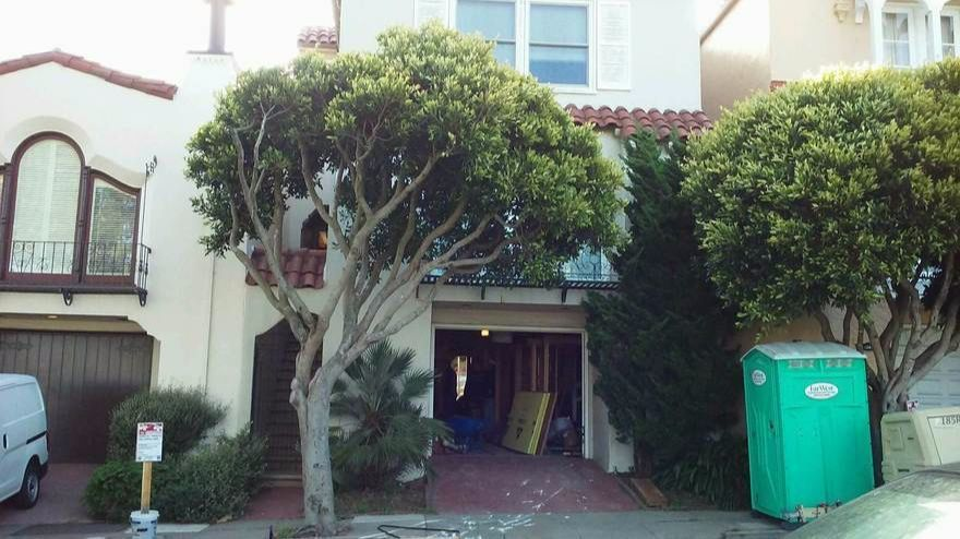 The home in San Francisco's Richmond district where Edith Cook's casket was found.