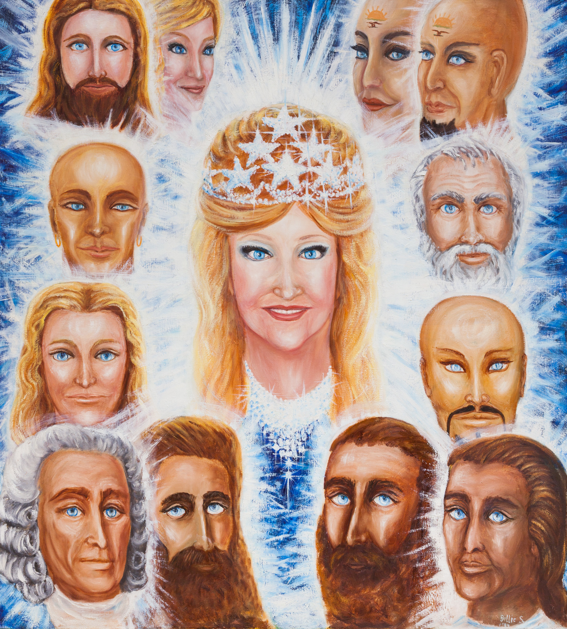 """Uriel and the Lemurian Masters,"" 1989, from the Unarius Academy of Science."
