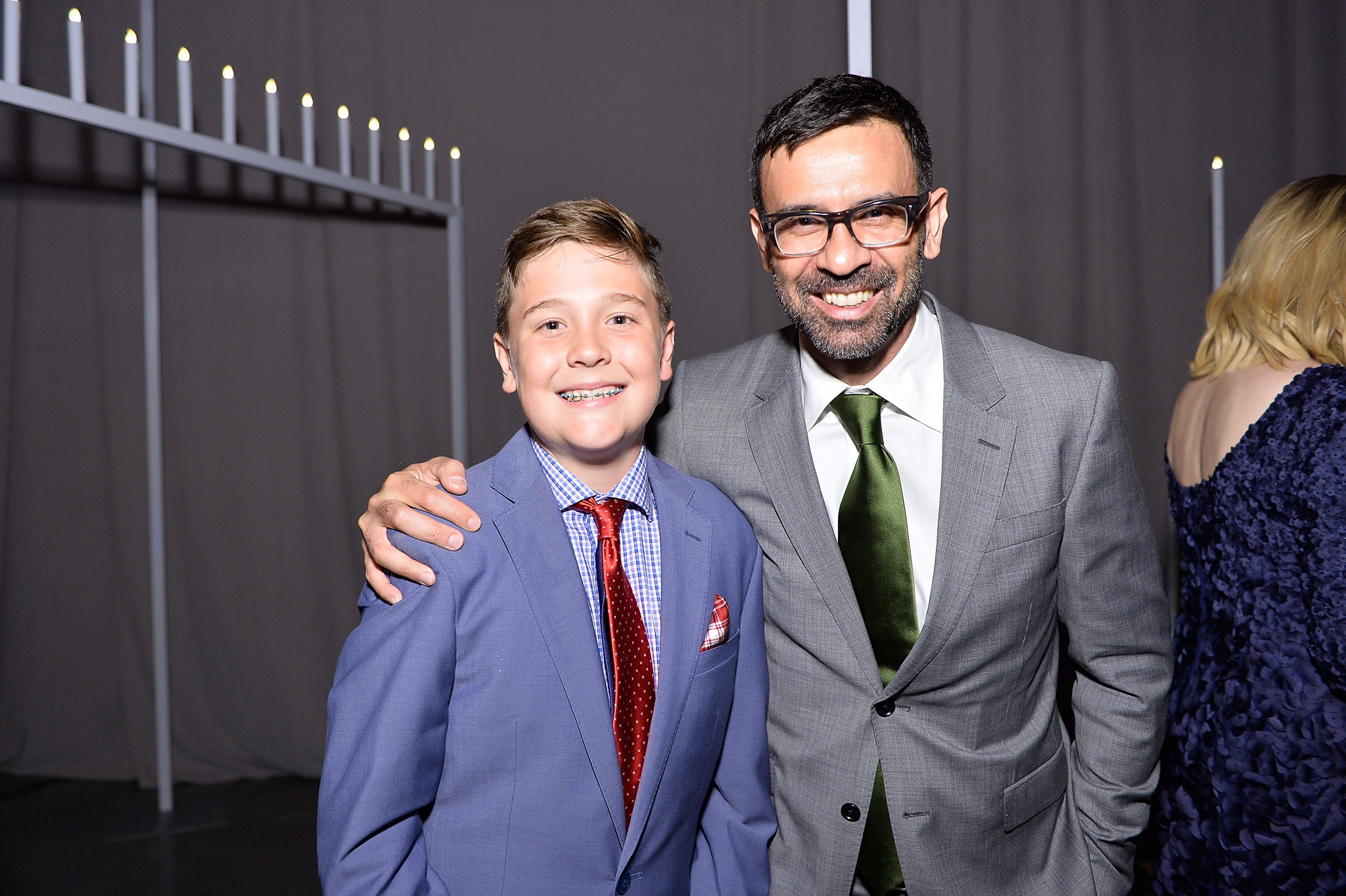 Honoree Kaiis Davis Jarrahy and his father, Reza Jarrahy.