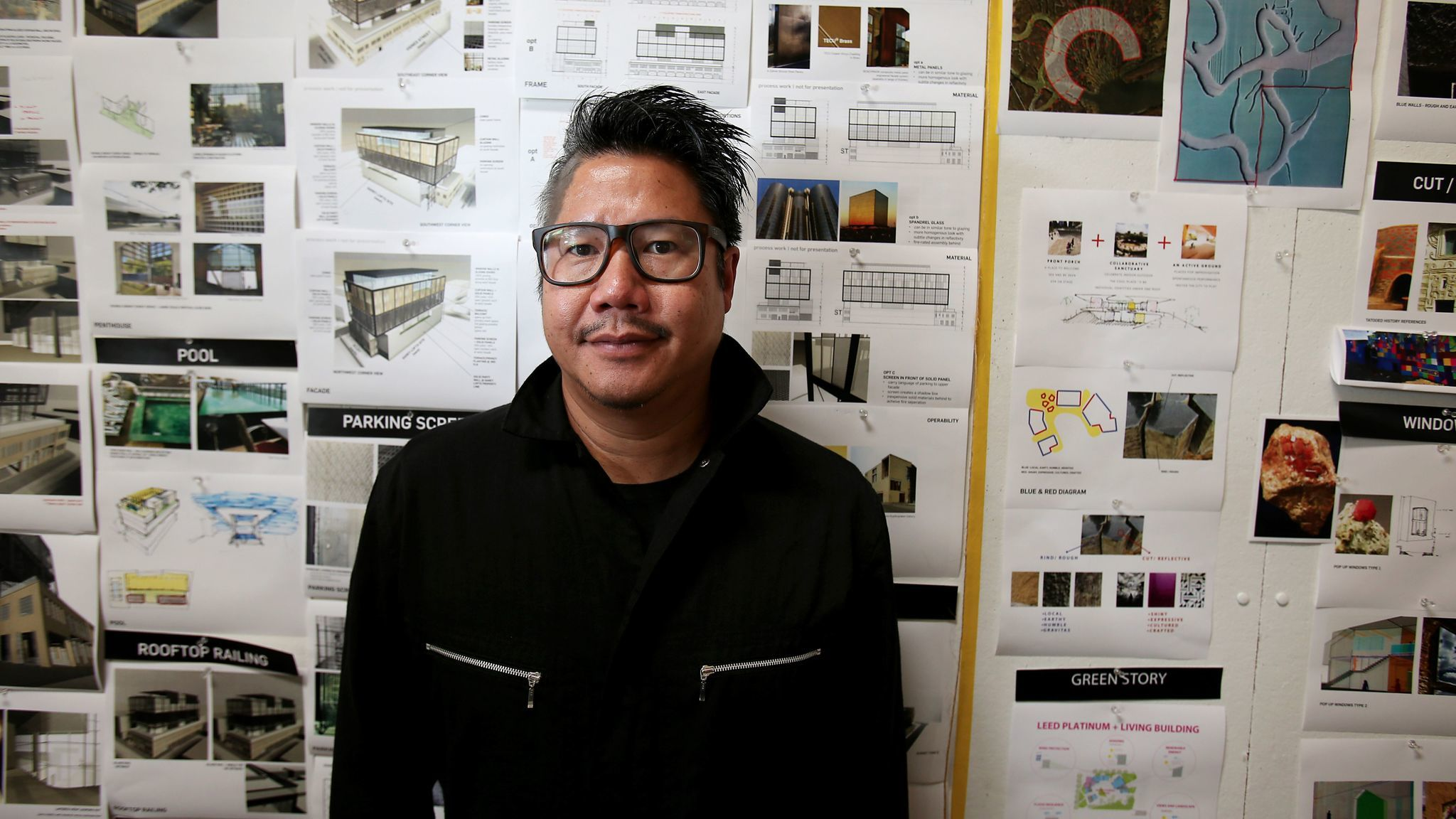 Kulapat Yantrasast in his firm's Culver City studio.