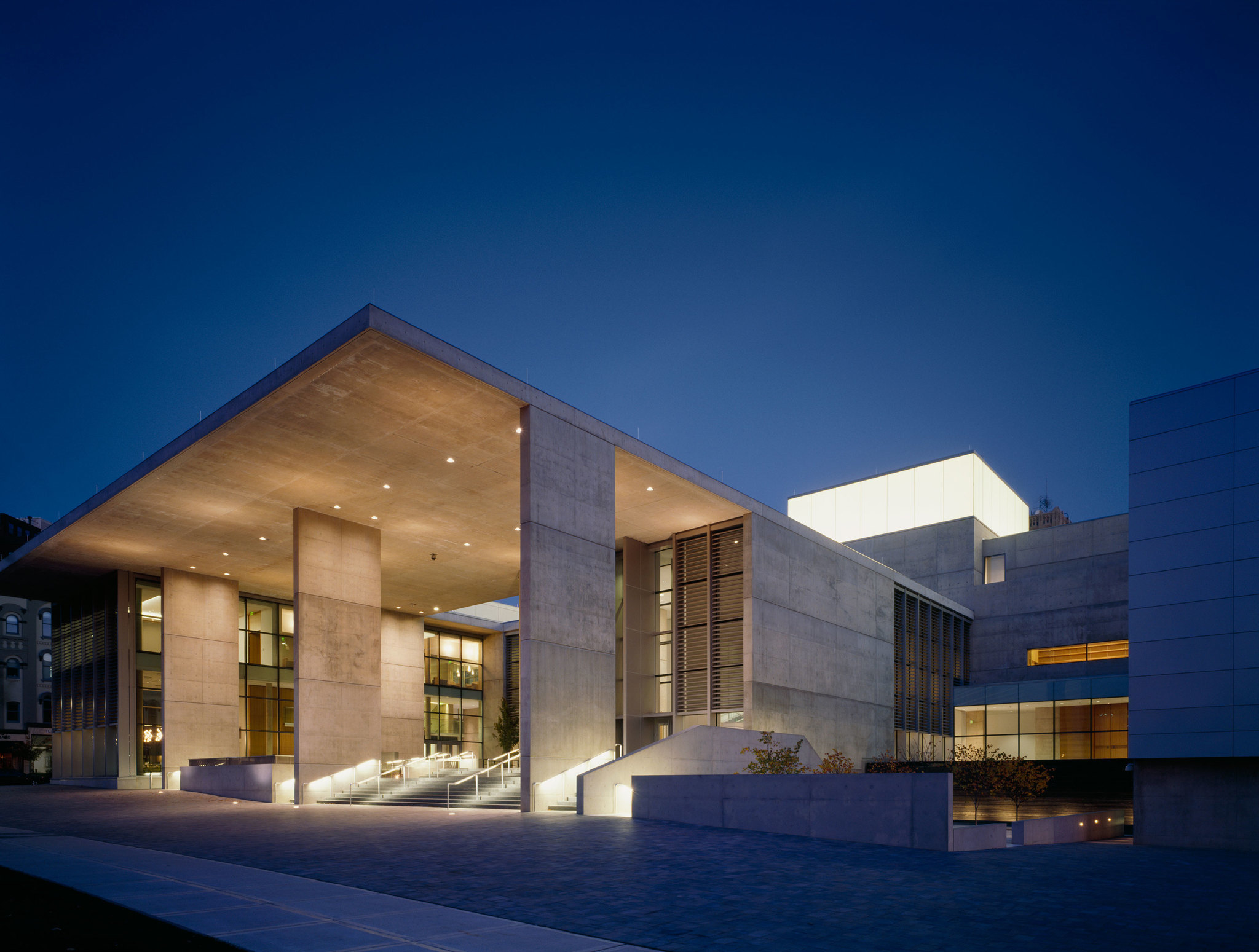 The entrance to the Grand Rapids Art Museum in Michigan, opened in 2007.