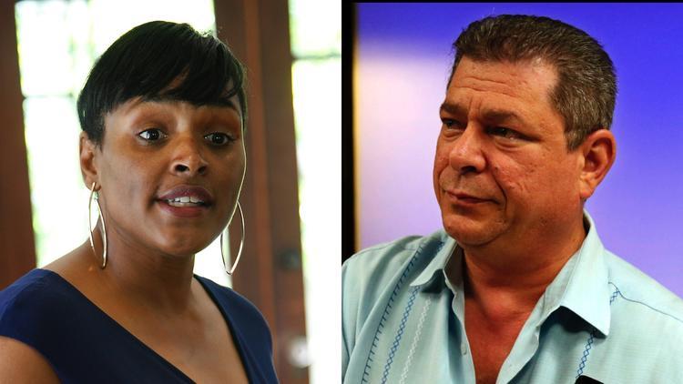 Kimberly Ellis and Eric Bauman. (Kirk McKoy / Los Angeles Times; Genaro Molina / Los Angeles Times)