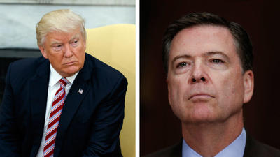 Trump tweets fired FBI director 'better hope' no 'tapes' exist of their conversations