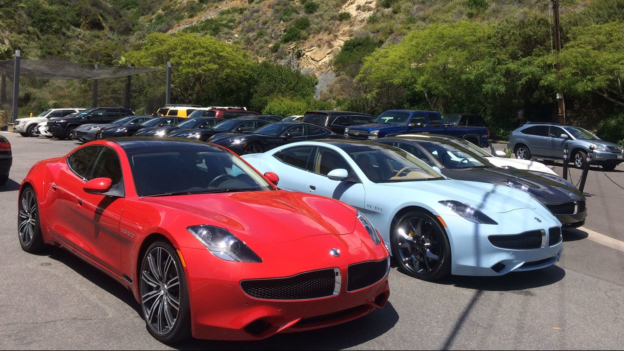 A Collection Of Karma Reveros Prepped For Driving Sit In Laguna Beach