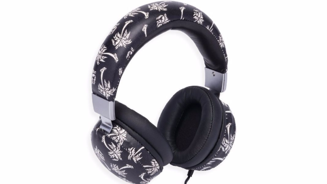 Palm tree leather headphones by Dolce & Gabbana.
