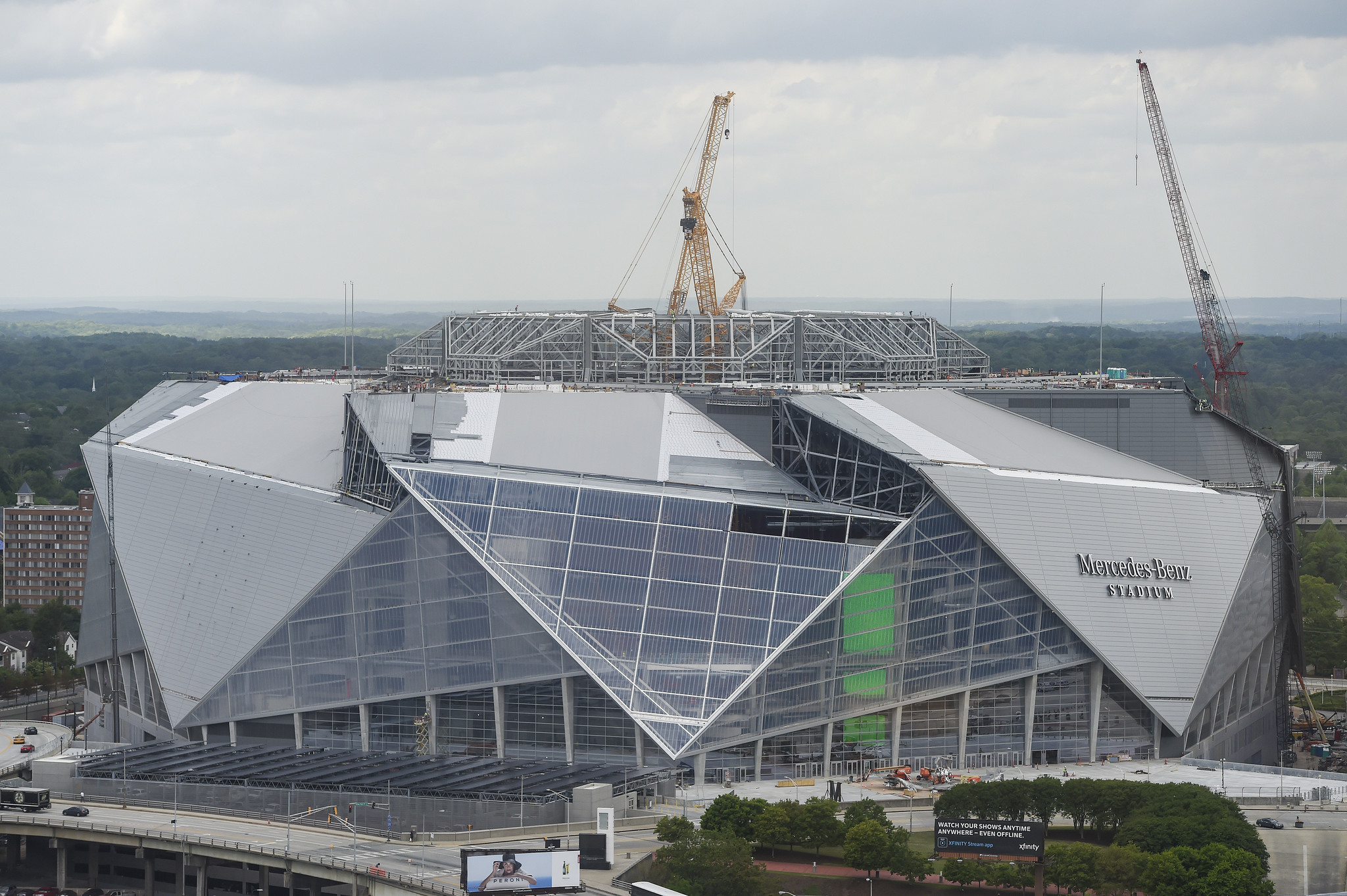 Fsu ad expects mercedes benz stadium to open on time for for Mercedes benz stadium suite prices