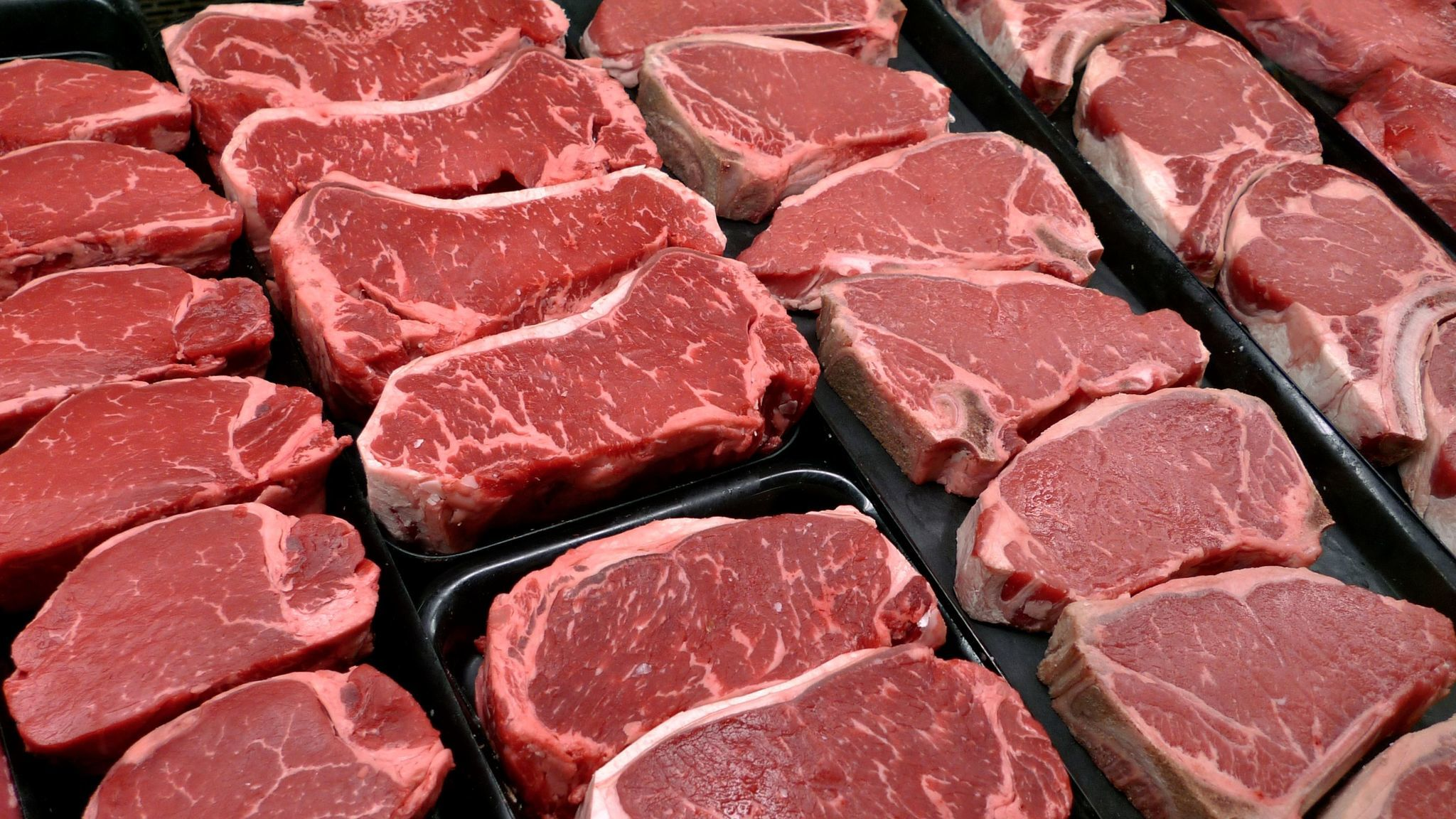 Red meat is rich in iron.