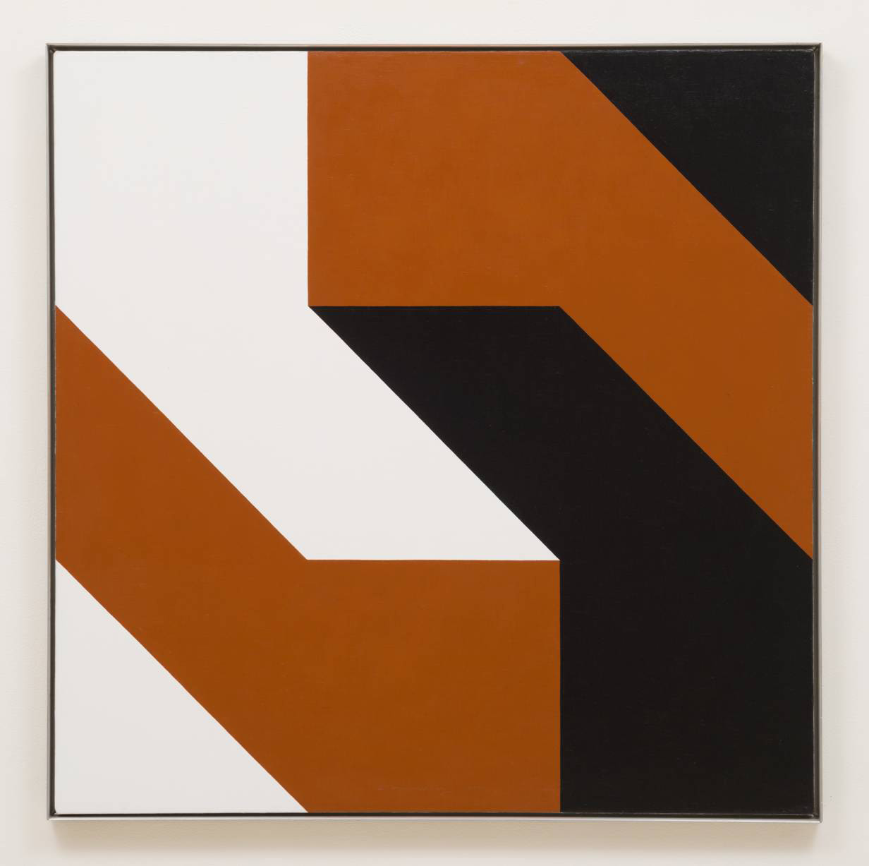 "Frederick Hammersley's ""Dark and Like,"" 1977, oil on linen, 39 inches by 39 inches"
