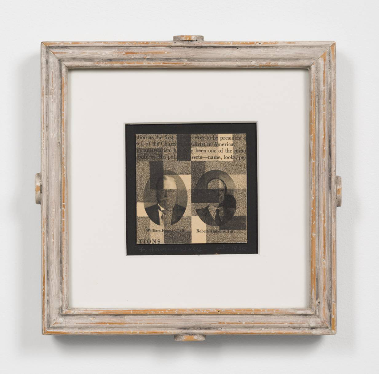 """Frederick Hammersley's """"Tafts 1 & 2,"""" 1950, lithograph in artist-made frame, 8 inches by 8 inches"""