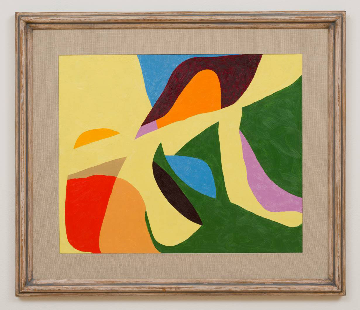 "Frederick Hammersley's ""Before + After,"" 1964, oil on chipboard panel in artist-made frame, 26 inches by 30 inches"