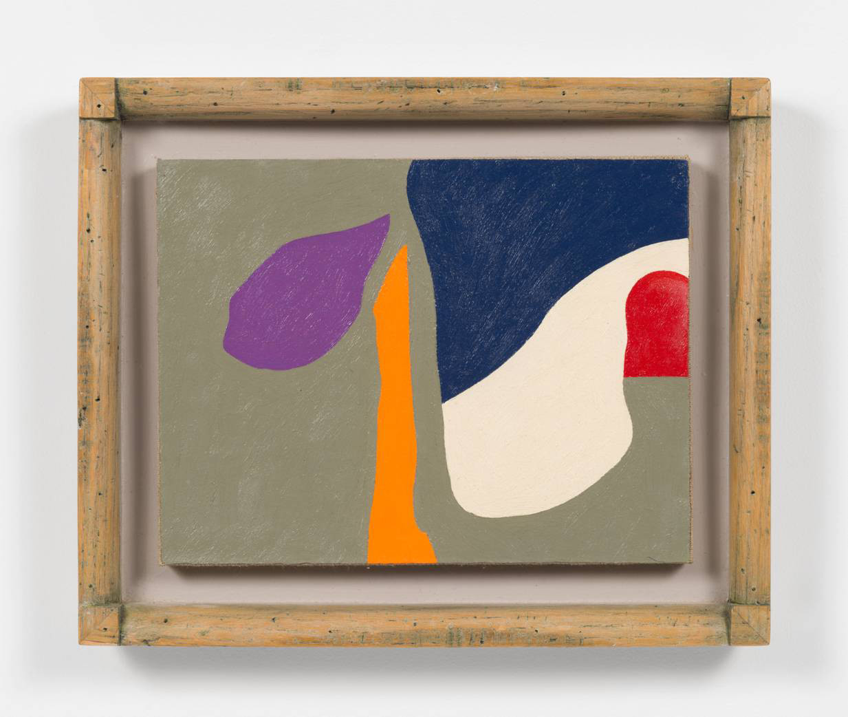 "The full image of Frederick Hammersley's ""Money From Home,"" 1986, oil on rag paper on linen on wood in artist-made frame, 10.75 inches by 13.75 inches"
