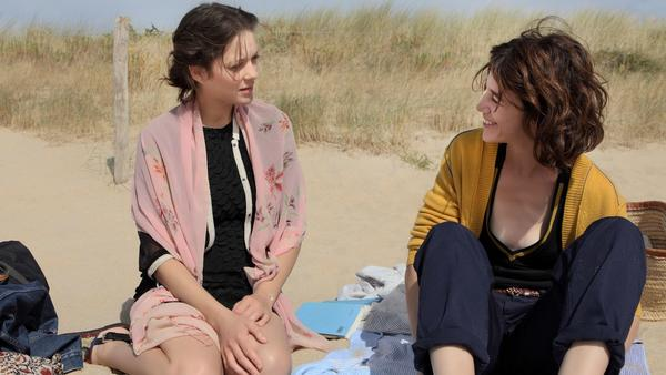 "Marion Cotillard, left, and Charlotte Gainsbourg in Arnaud Desplechin's ""Ismael's Ghosts."""