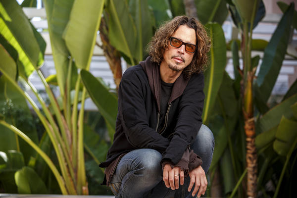 Chris Cornell at the Beverly Hilton Hotel in 2015. (Ricardo DeAratanha / Los Angeles Times)