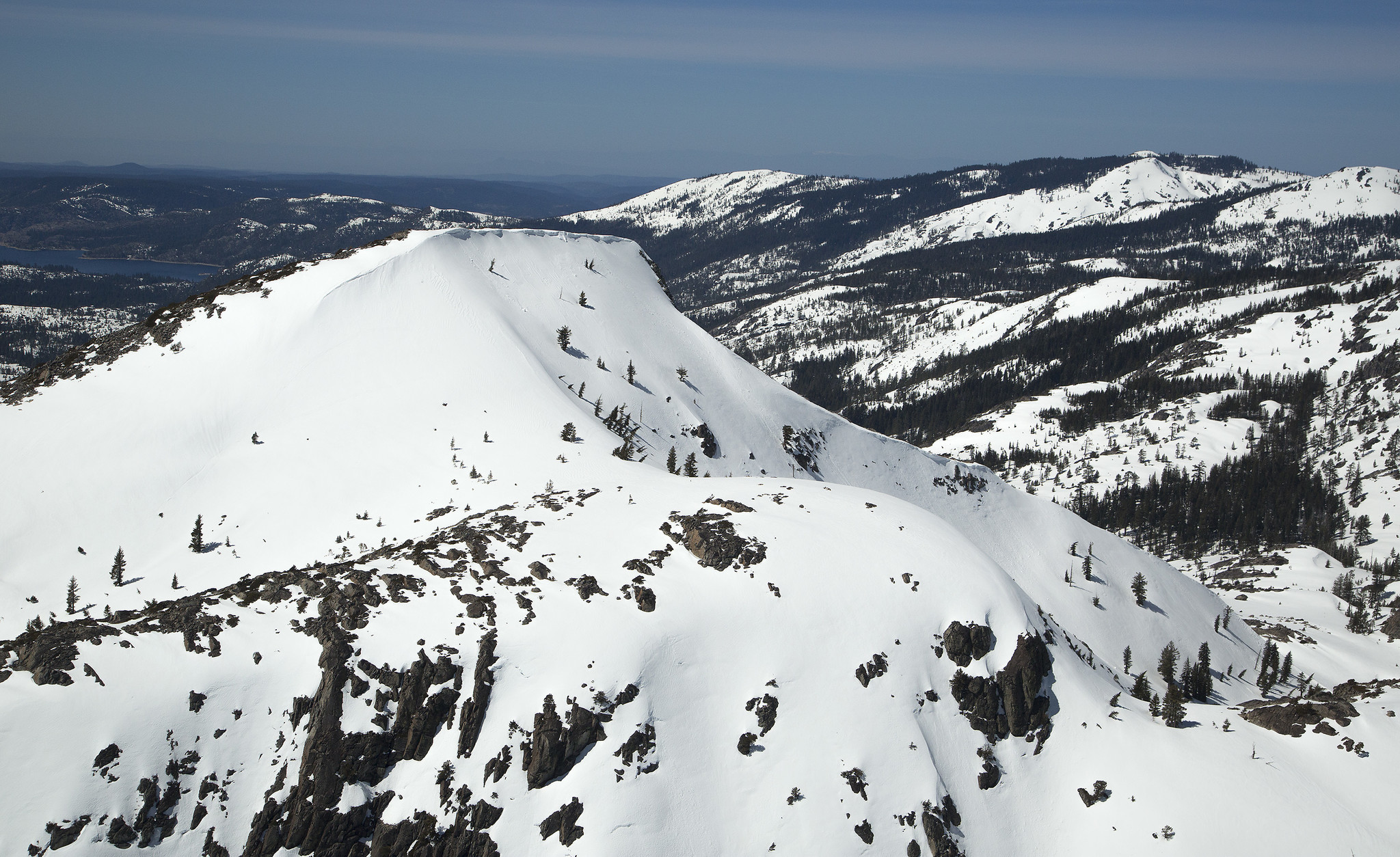 Record snowfall covers the Sierra Nevada mountains. A snow survey at the Meadow Lake snow course revealed the area received 160% of average precipitation.