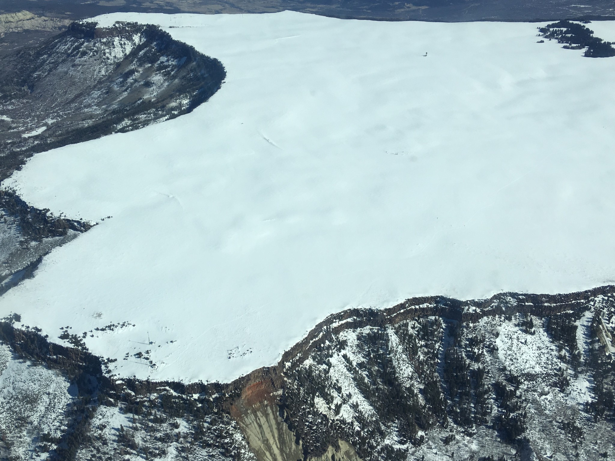 The Grand Mesa, Colo., study site as seen from an Airborne Snow Observatory plane.