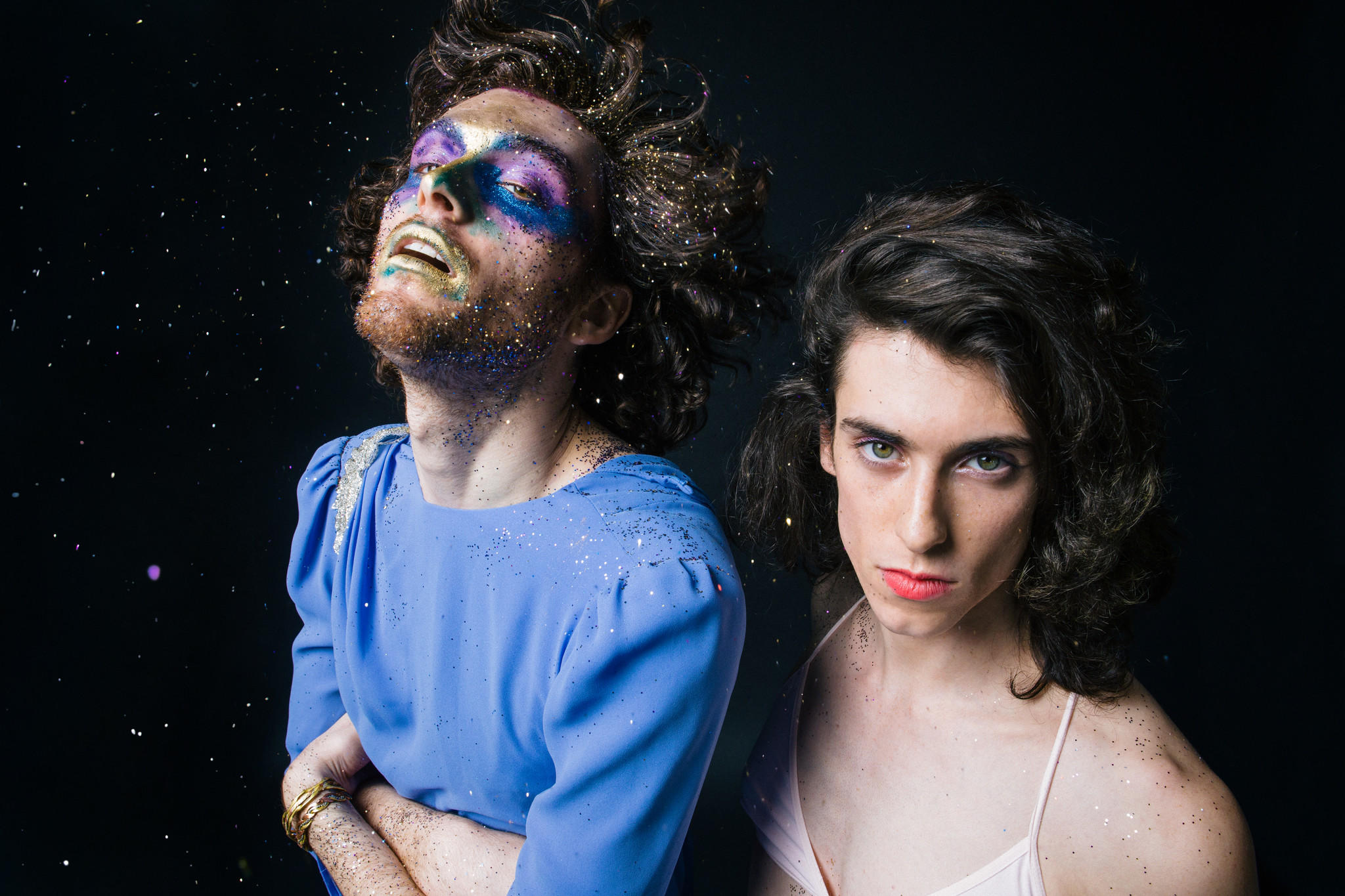 PWR BTTM band members Ben Hopkins, left, and Liv Bruce are shown. (Ebru Yildiz)