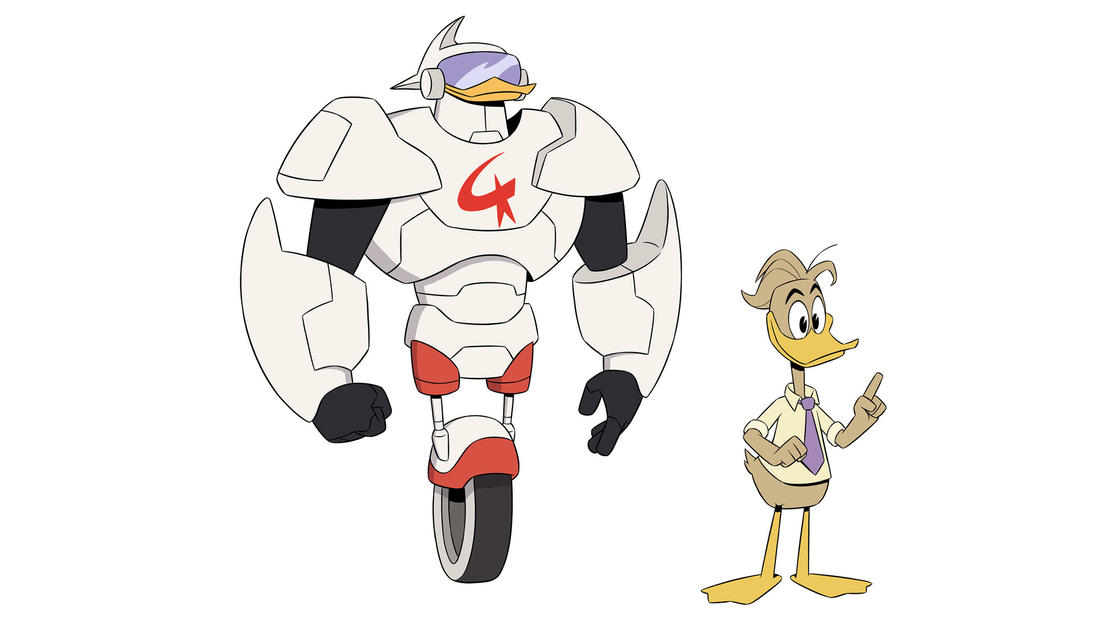 "Gizmoduck's true identity is Fenton Crackshell-Cabrera in ""DuckTales."" (Disney XD)"