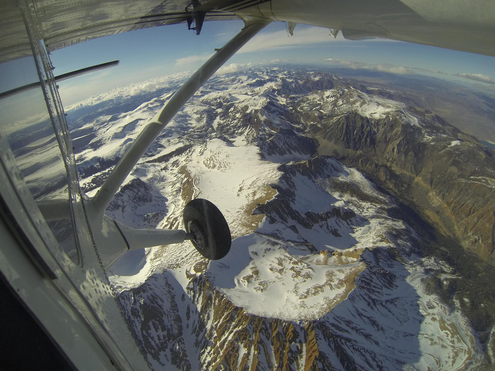 An Airborne Snow Observatory flight over the Tuolumne River basin in 2013.
