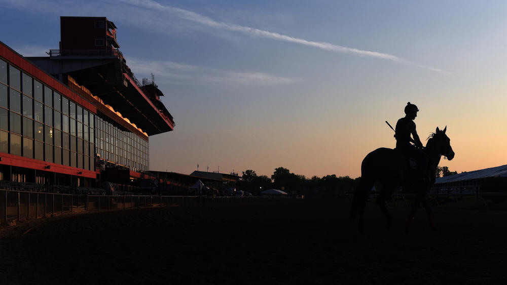 Sunrise over Pimlico Race Course in Maryland. (Kim Hairston / Baltimore Sun)