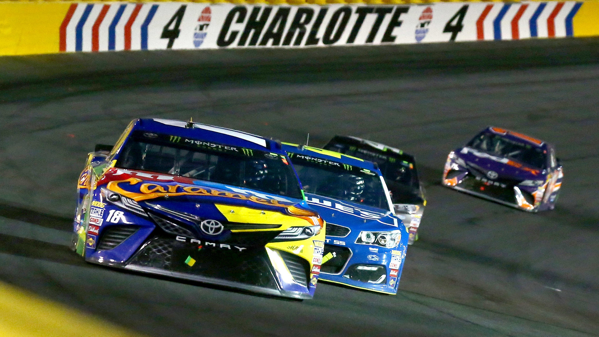 Kyle busch wins nascar s all star race at charlotte for the first time la times