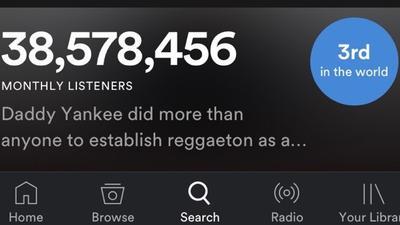 Posición de Daddy Yankee