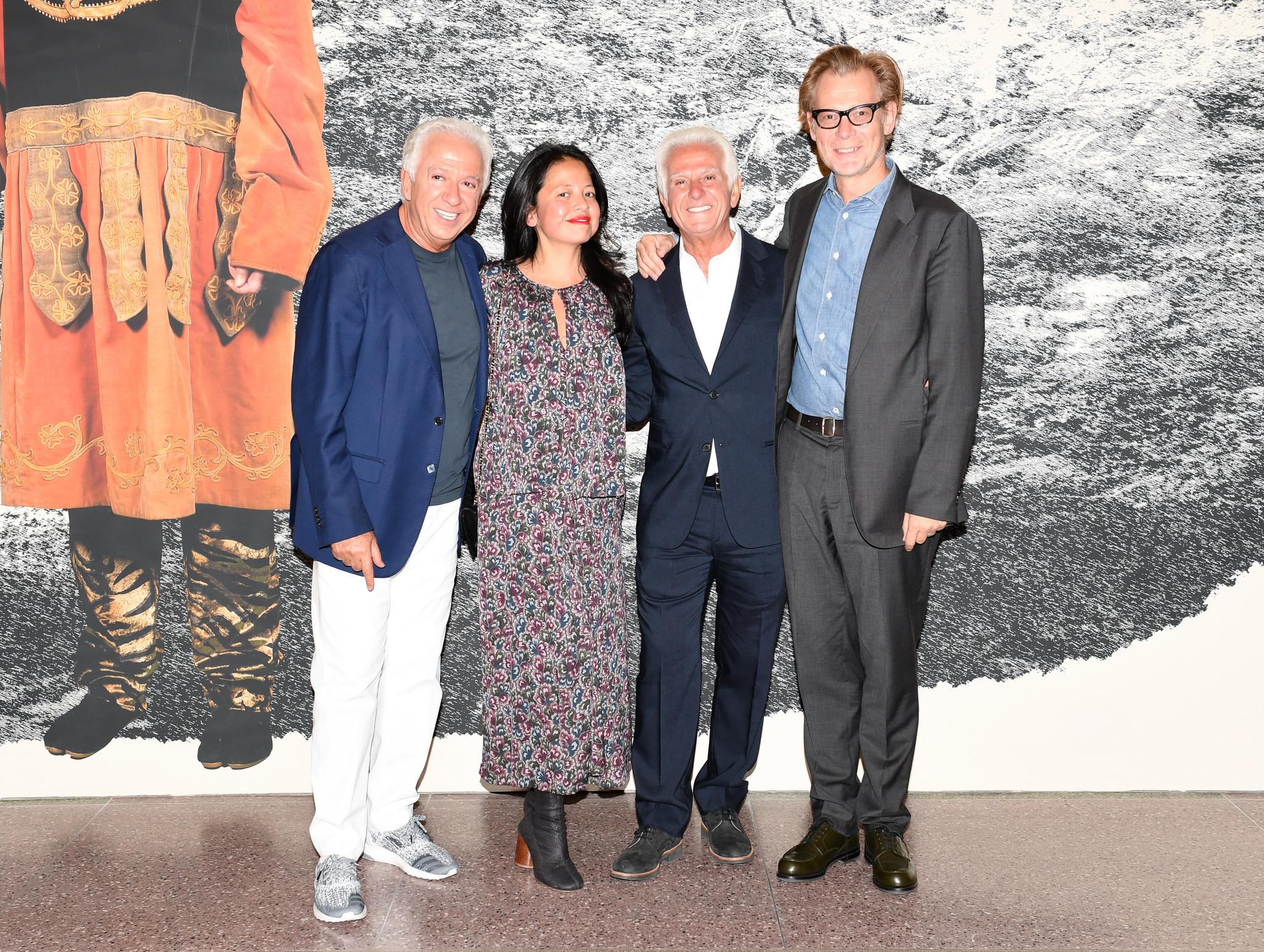 Paul Marciano, Sylvia Chivaratanond, Maurice Marciano and MOCA Director Philippe Vergne.