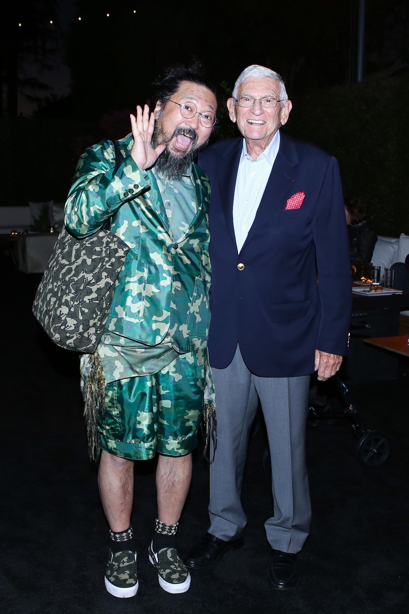 Artist Takashi Murakami and philanthropist Eli Broad.