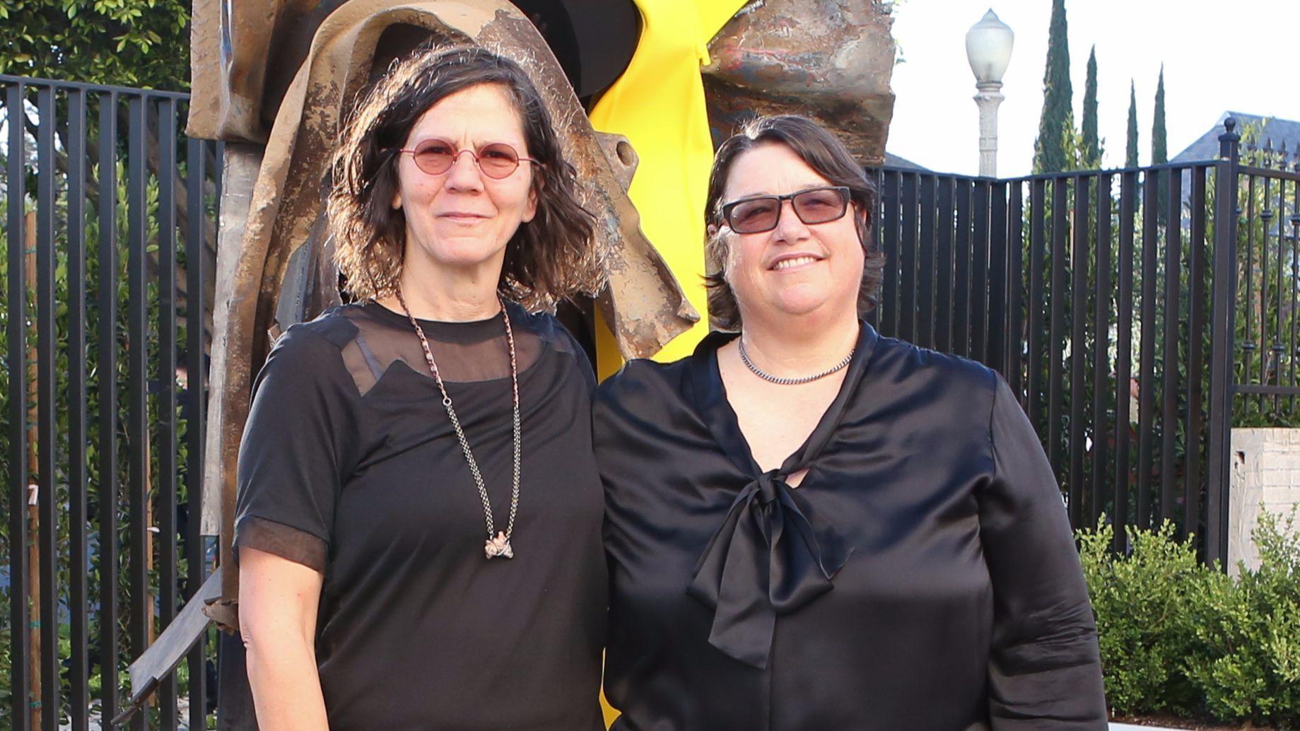 Garden designer Julie Burleigh and artist Catherine Opie.