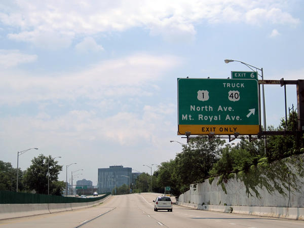 North Avenue ramp from southbound I-83 closed for 'concrete work' until further notice