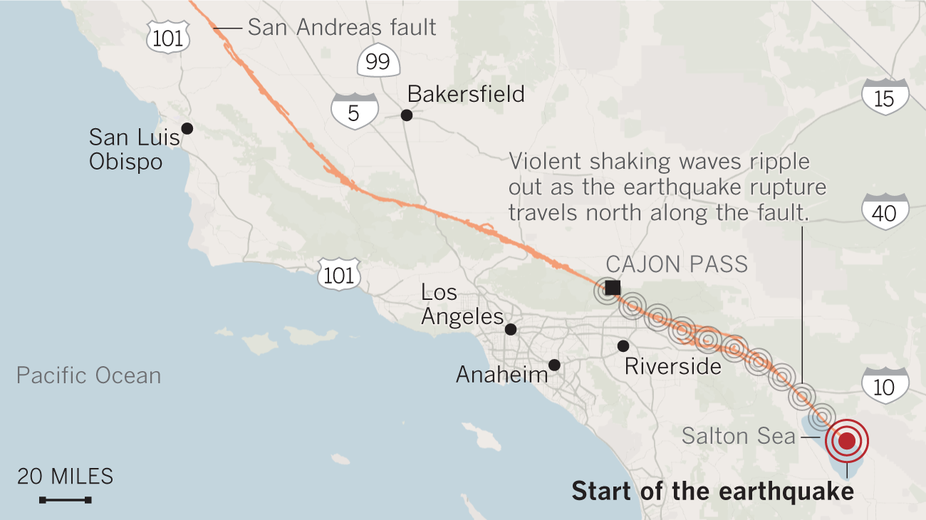 Signs Of Past California Mega Quakes Show Danger Of The Big One On
