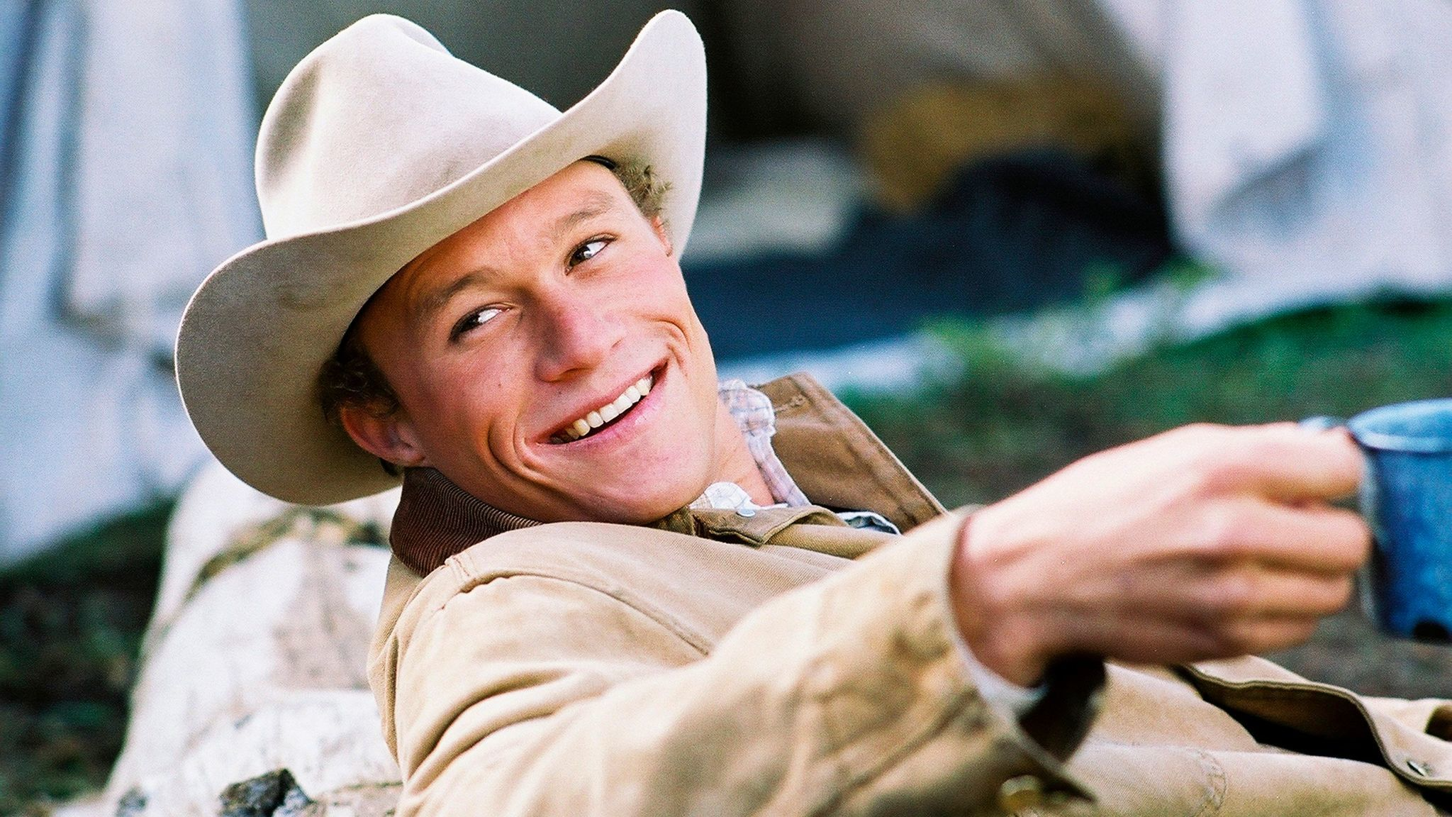 "Actor Heath Ledger as Ennis Del Mar in the movie ""Brokeback Mountain."""