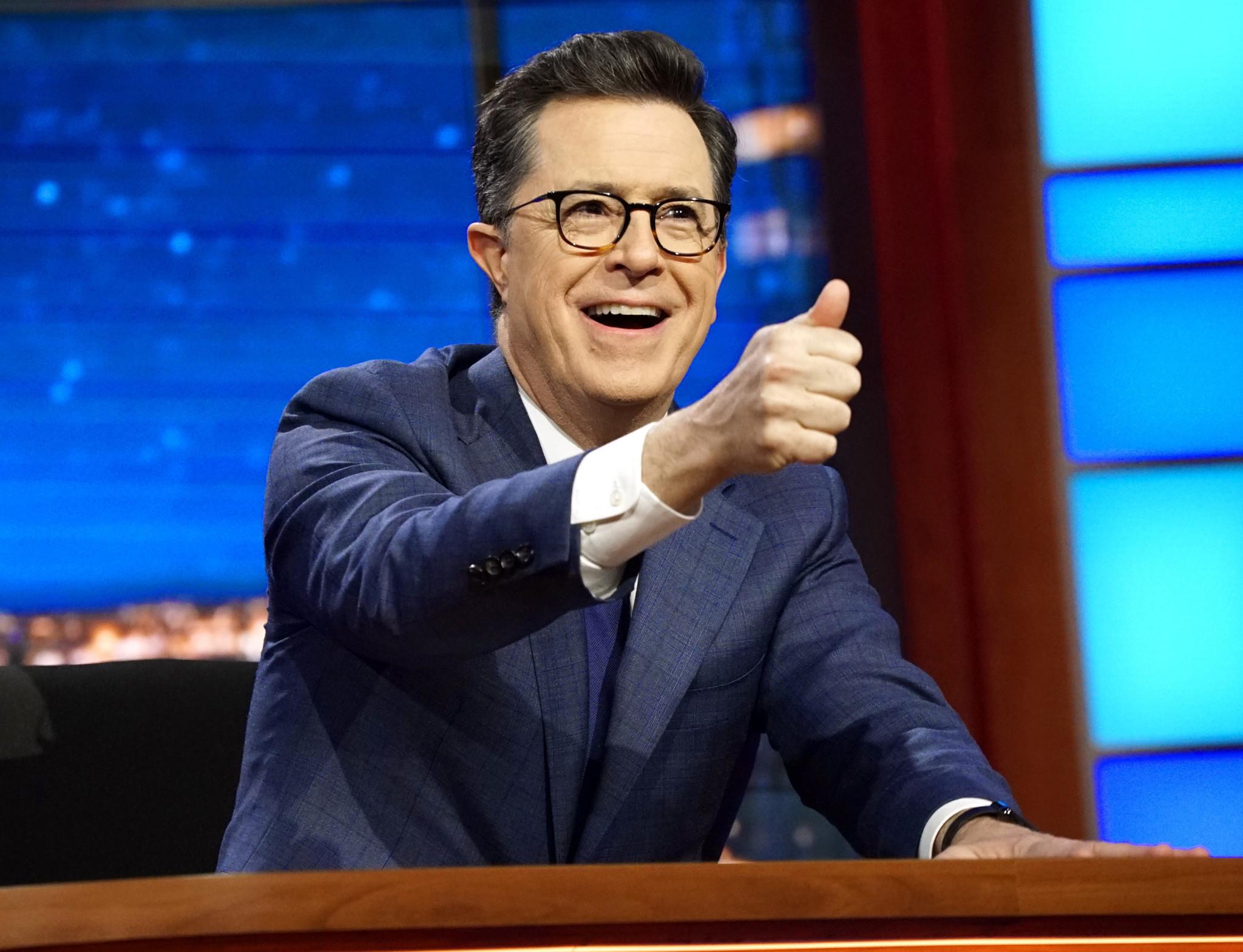 FCC: No punishment for late-night host Colbert's Trump joke