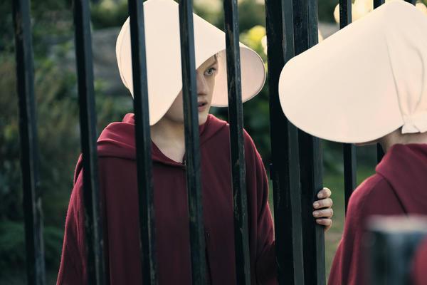 "Elisabeth Moss as Offred in Hulu's ""The Handmaid's Tale."" (George Kraychyk / Hulu)"