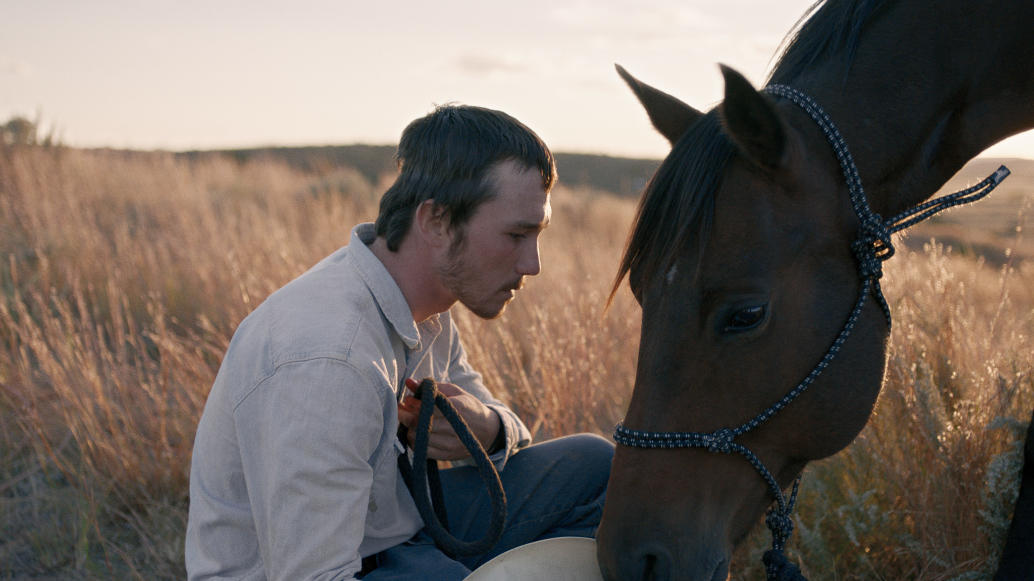 "Brady Jandreau in the film ""The Rider."""