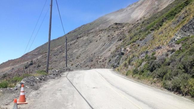 a massive landslide that closed highway 1 is part of a 1 billion