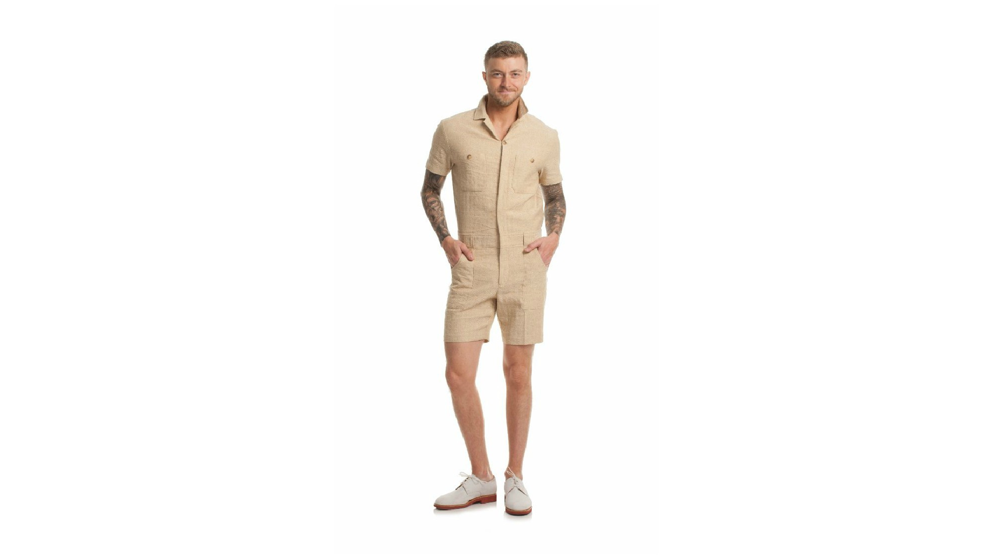 Mr. Turk Keller short jumpsuit.