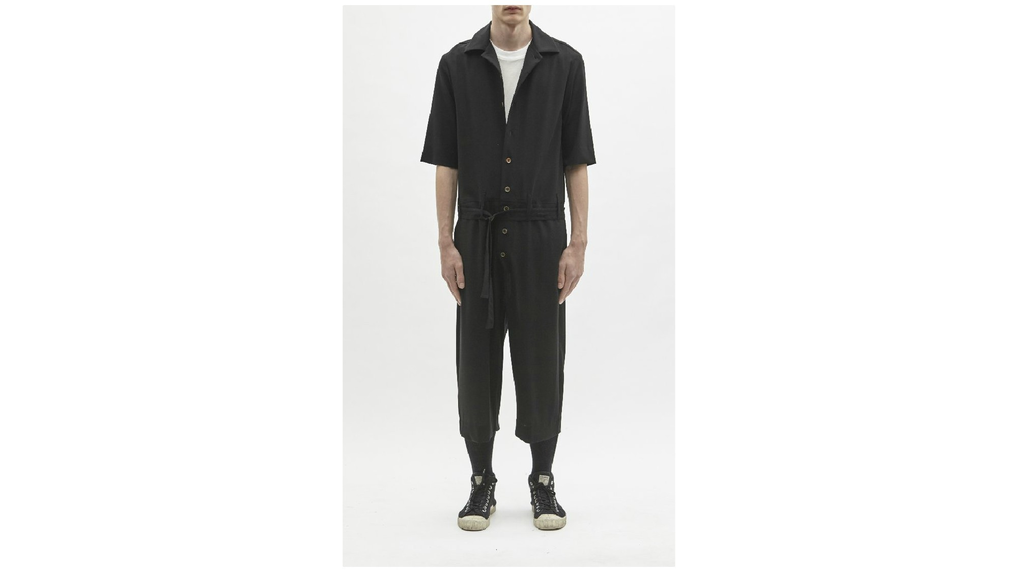 Song for the Mute gaberdine jumpsuit.