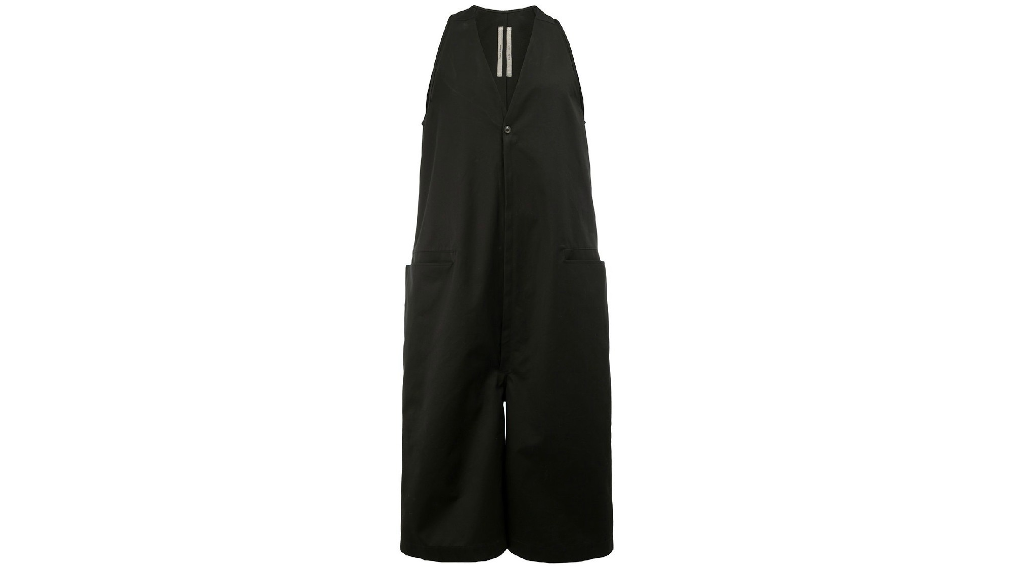 Rick Owens cropped sleeveless jumpsuit.