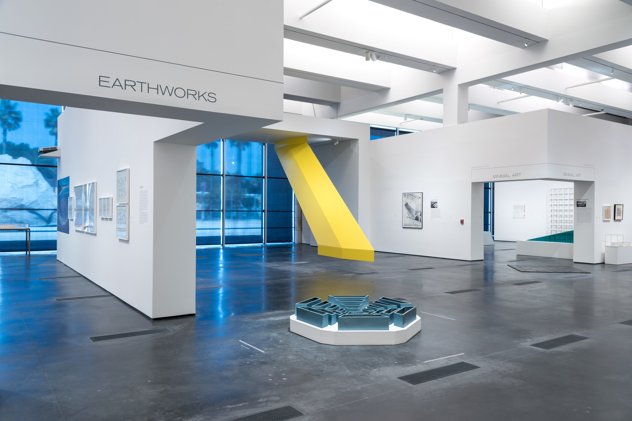 Except for Robert Grosvenor's yellow sculpture, color is in relatively short supply in the Dwan exhibition.