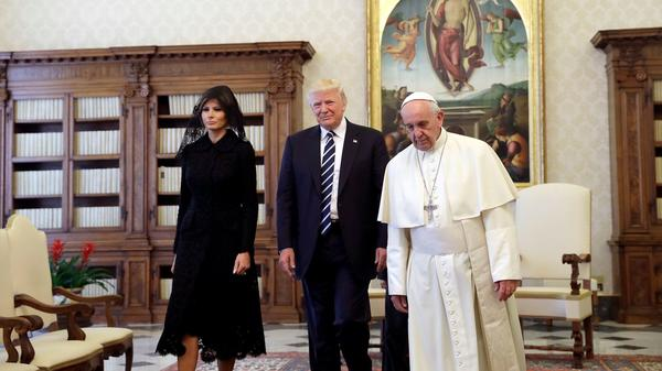 First Lady Melania Trump wears Dolce & Gabbana to meet Pope Francis in Rome